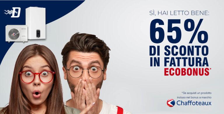 Sconto in fattura CHAFFOTEAUX: risparmi sino al 65%