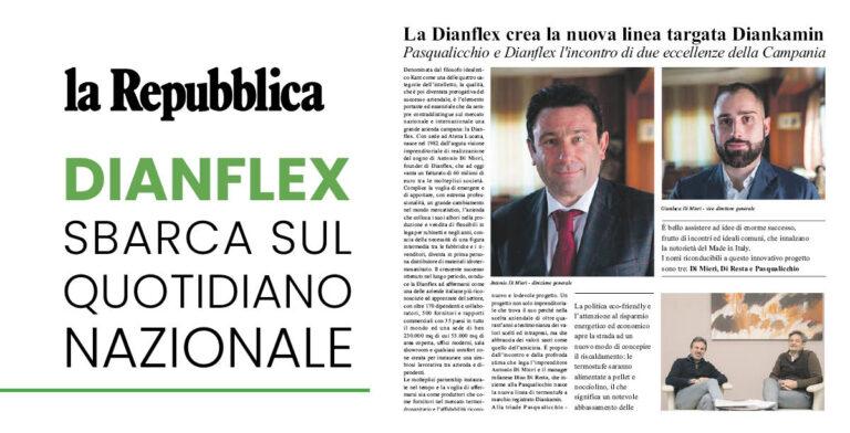 Dianflex sbarca su la Repubblica: l'incontro tra due eccellenze della Campania